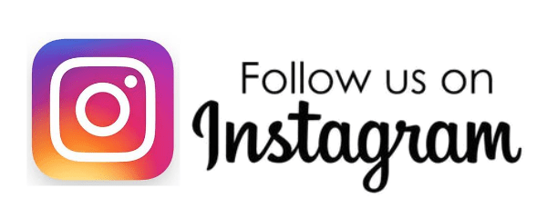 Follow us on Instragram text Widget with Instagram logo