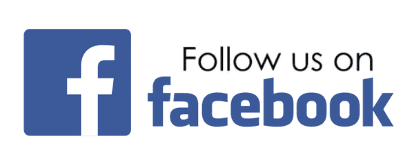 Follow us on Facebook text Widget text with facebook emblem